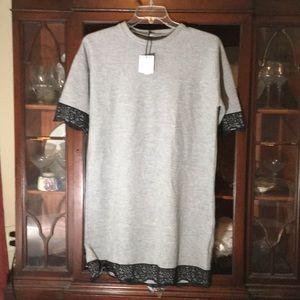 Zara light grey dress Size M very soft NWT